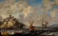 navios franceses en la costa by bonaventura peeters the elder