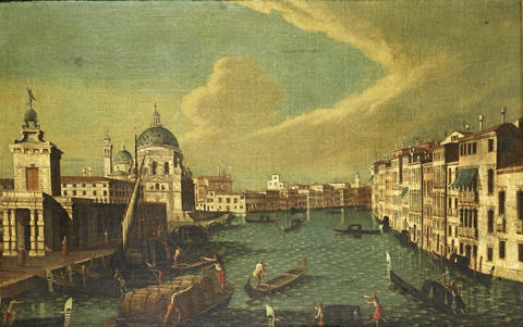 the grand canal venice at the punta della dogana with santa maria della salute beyond by francesco tironi