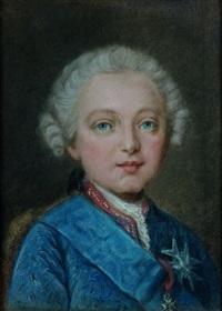 portrait d'enfant de la famille royale portant l'ordre du saint-esprit by jean-martial fredou