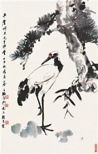 松鹤图 by zhao lianghan, yang jianhou and zhang zhengyin