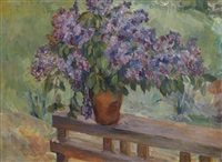 still life with lilacs by aristarkh vasilevich lentulov