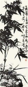 兰竹双清 立轴 水墨纸本 by jiang fengbai