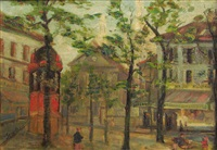 place de tertre (montmartre) by paul scortesco