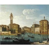 venezia, veduta del canal grande by pietro bellotti