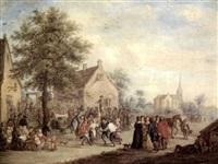 la fête villageoise by alexandre paul joseph veron