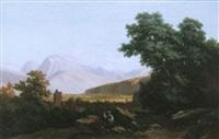 paysage animé de personnages by nicolas-victor fonville
