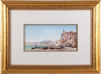 italian coastal scene by gabriel carelli