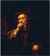 a bearded old man by abraham van dyck