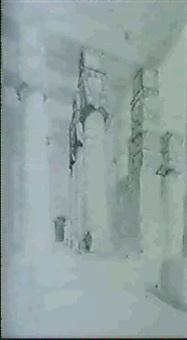 le gardien du temple de denderah, egypte by alfred koechlin-schwartz
