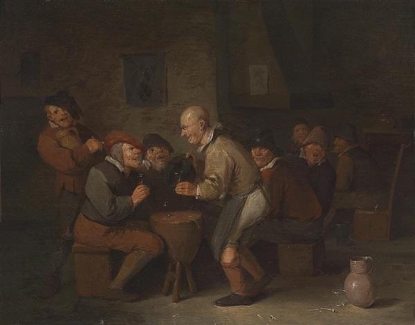 bäuerliche wirtshausszene by egbert van heemskerck the elder