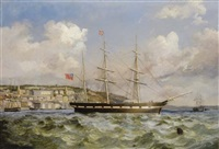 shipping off cobh by george atkinson