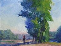 untitled (rider under a tree) by orestes (rick) nicholas de grandmaison