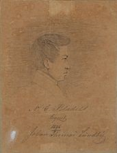 portrait of the danish priest nicolai gottlieb blædel (1816-1879) by johan thomas lundbye
