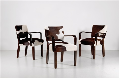 A Group Of Four Armchairs And Two Chairs By Otto Prutscher