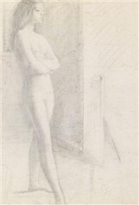 jeune fille debout by balthus