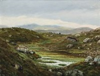 landscape from the faroe islands by joen waagstein