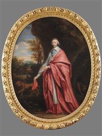 portrait allégorique du cardinal de richelieu inspirant le respect aux animaux by charles alphonse dufresnoy
