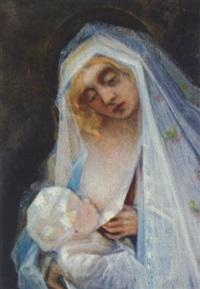 madonna mit kind by leopold fröhlich