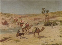 the desert caravan by jacques alsina