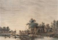 fishermen at dawn by jacobus theodorus abels