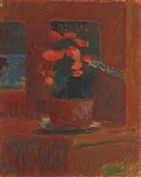 begonien auf rotem grund by cuno amiet
