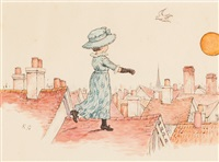 under the window (2 works) by kate greenaway