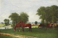 hästar i landskap by rosa bonheur