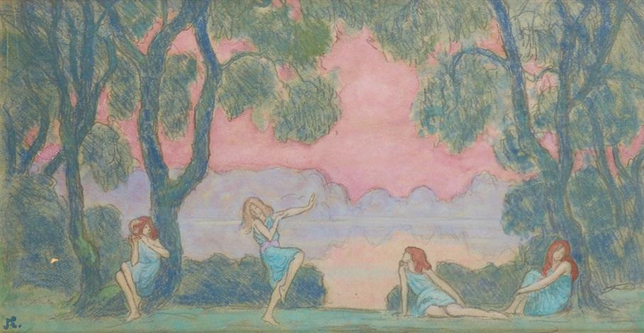 les petites danseuses de loie fuller by jean francis auburtin