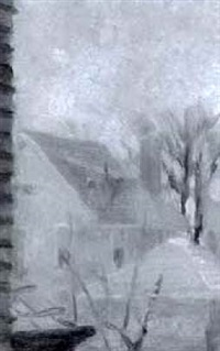 untitled - view from the artist's studio on albert st., ottawa by ernest george fosbery