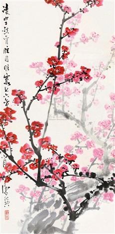 红梅图 plum blossom by kang shiyao