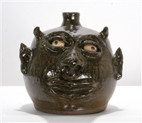devil face jug by lanier meaders