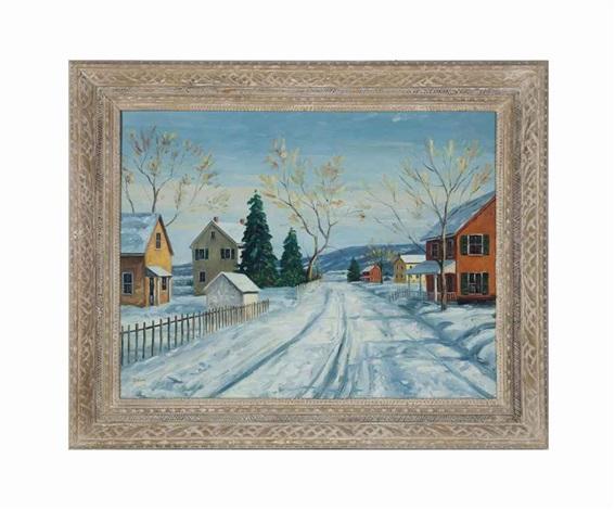 untitled a winter landscape by walter emerson baum