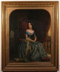 portrait of a evdokia petrovna sokolova by pimen nikitich orlov