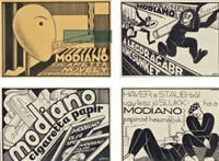 modiano-pamphlet (4 designs) by jenö gábor