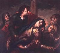 l'évanouissement de la vierge by filippo abbiati