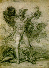 perseus holding the head of medusa by pietro benvenuti