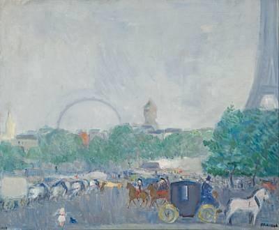 ved eiffeltårnet i paris by bernhard d folkestad