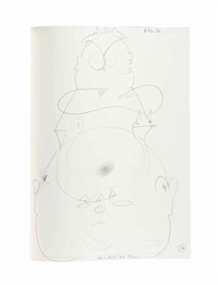14 verzweifelt-flüchtige selbstzeichnungen (sketchbook w/14 works) by dieter roth