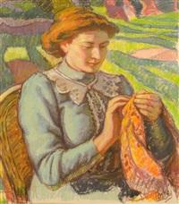 femme à la couture by jean misceslas peské