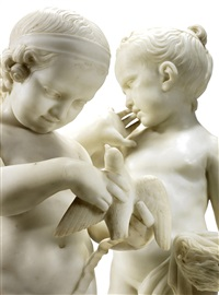a pair of italian early 19th century white marble sculptures of a boy and a girl by anonymous-italian (19)