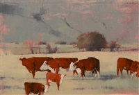 cattle at dawn by michael workman