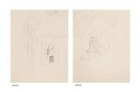 sketch for croquer les idées (recto/verso) by rené magritte