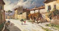 la rue des peintres à villeneuve les avignon by joseph marius hurard