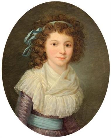 portrait de jeune fille en corsage de linon by marie victoire lemoine