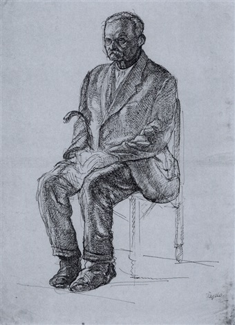 portrait of an old man by lajos vajda