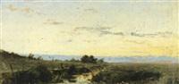landskap i aftonsol by axel erik valerius fahlcrantz
