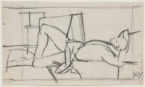 untitled laying figure by keith vaughan