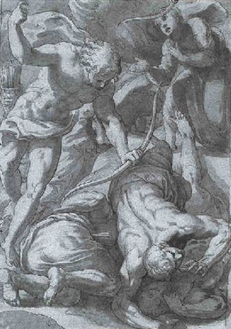 the fall of the children of niobe by giuseppe salviati porta