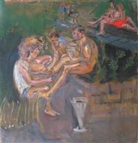 joueurs de cartes by natta konisheva