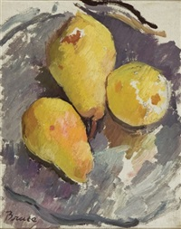 still life with pears by patrick henry bruce